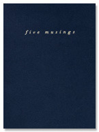 [재입고] five musings