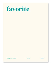 [5차 입고] favorite magazine 2호