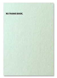[재입고] NU THANKS BOOK